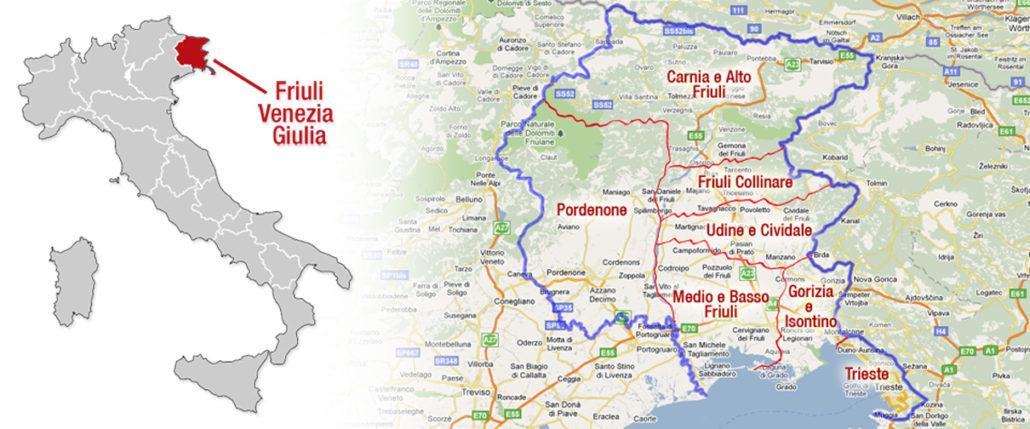 Regione Friuli Venezia Giulia Cartina.Homepage Archeocarta Del Friuli Venezia Giulia